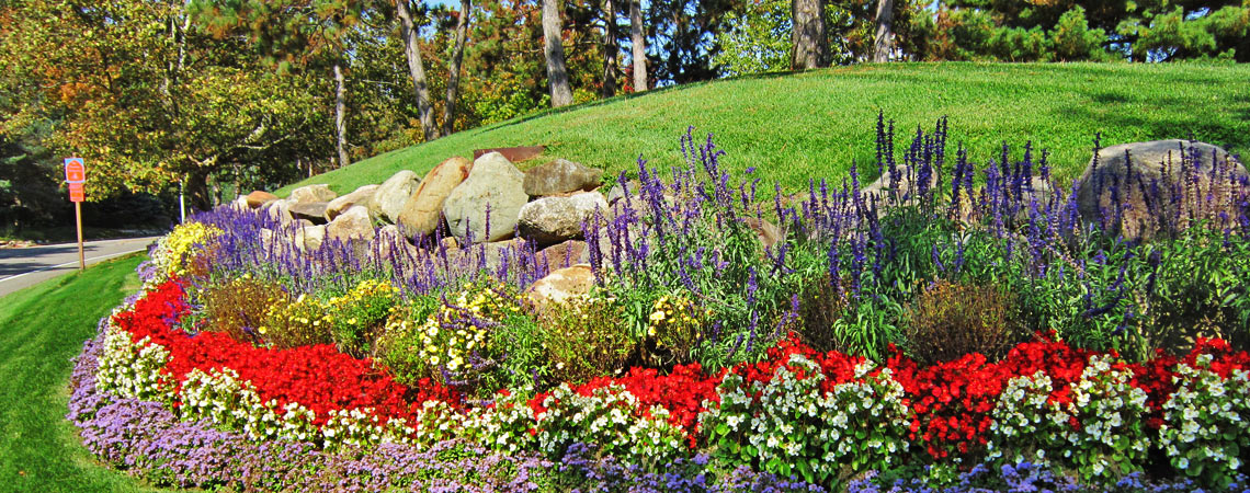 Beautiful landscaping for your enjoyment